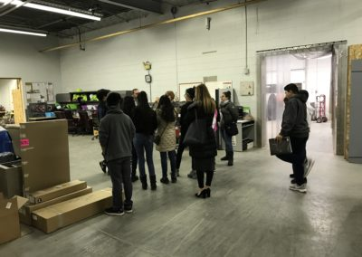 Students tour the Warehouse