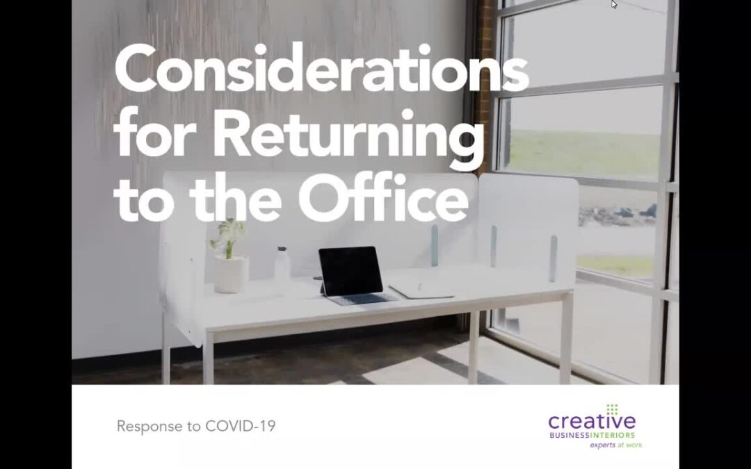 Consideration for Returning to the Office – Webinar